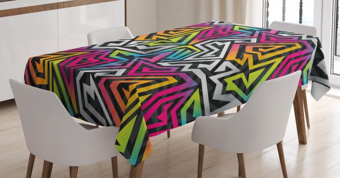 Rainbow Maze Tablecloth