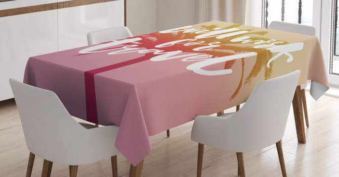 Summer Travel Palm Tablecloth