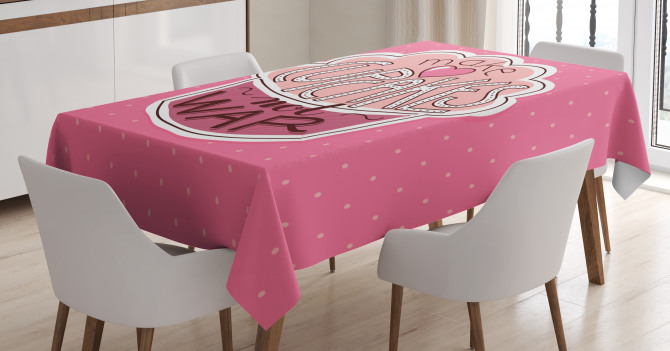 Make Cupcakes Dots Tablecloth