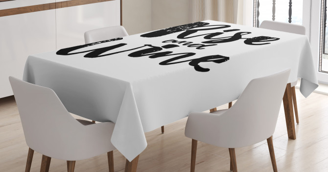 Rise and Wine Quote Tablecloth