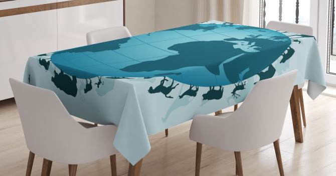 Animal Diversity World Tablecloth
