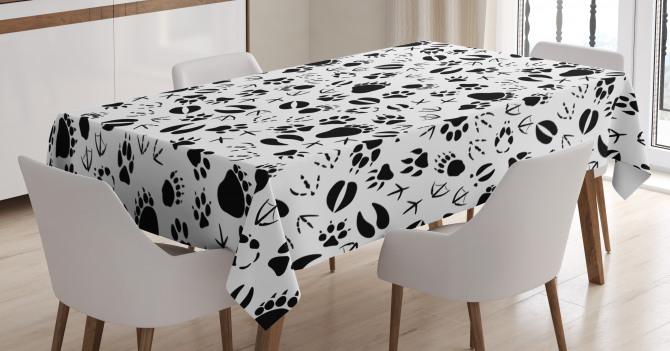 Footprints of Animals Tablecloth