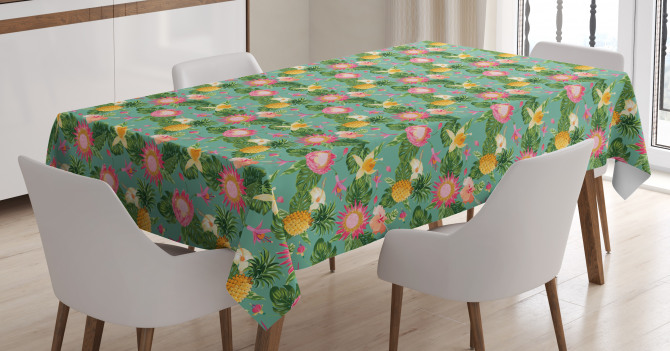 Vivid Color Hibiscus Tablecloth