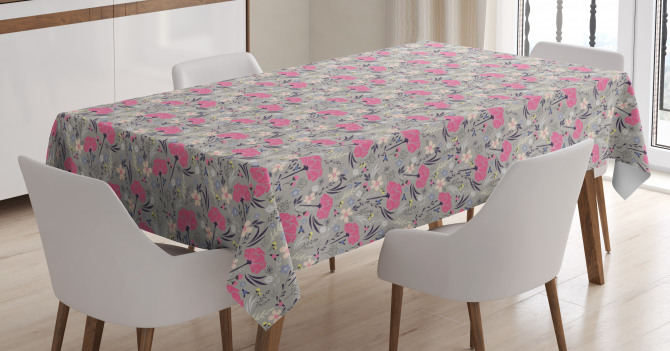 Repeating Dandelions Tablecloth