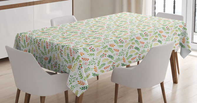 Gentle Autumn Leaves Tablecloth