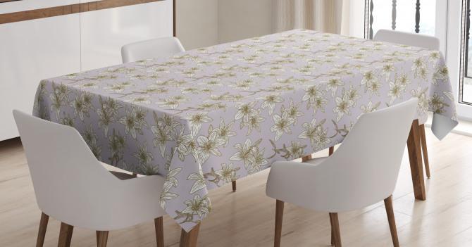 Freesia Flower Print Tablecloth