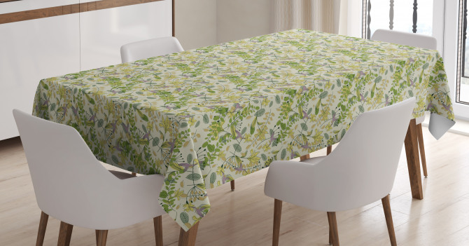 Pastel Shade Nature Tablecloth