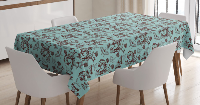 Nature Figures Birds Tablecloth