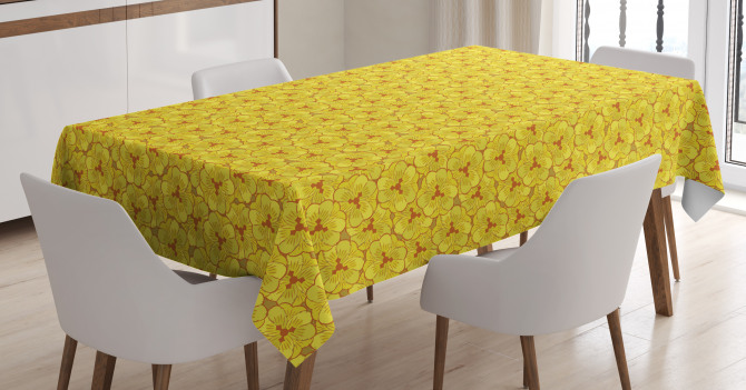 Flower Petals in Blossom Tablecloth