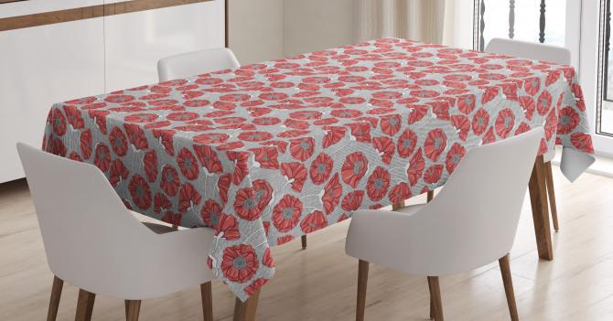 Poppy Petals Polka Dots Tablecloth