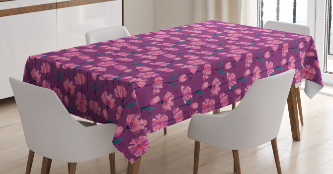 Abstract Poppy Petals Tablecloth