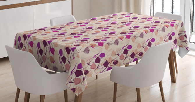 Carnations and Tulips Tablecloth