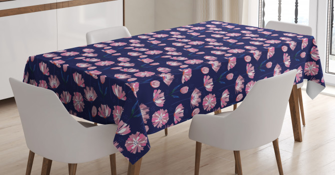 Garden Art Pink Poppies Tablecloth