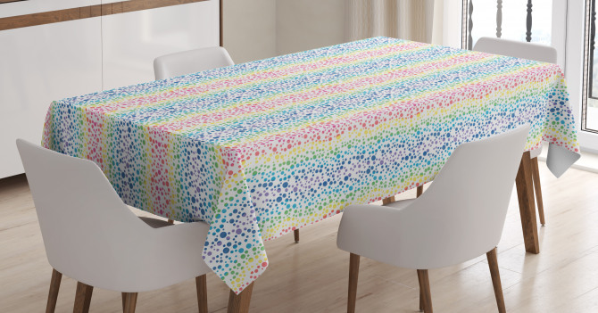 Color Transition Dots Tablecloth