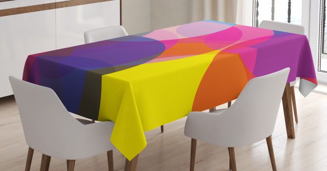 Colorful Circles Tablecloth