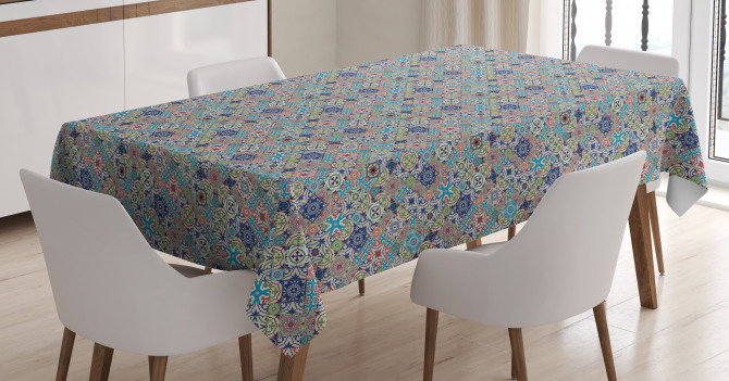Patchwork Mosaic Tiles Tablecloth