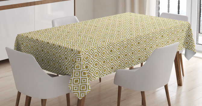 Rhombus-Like Pattern Tablecloth