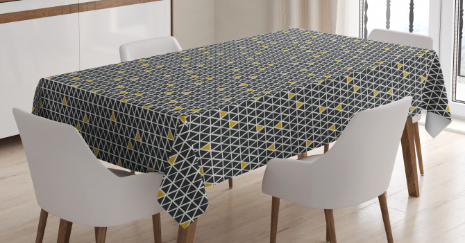 Simplistic Rhombus Tablecloth