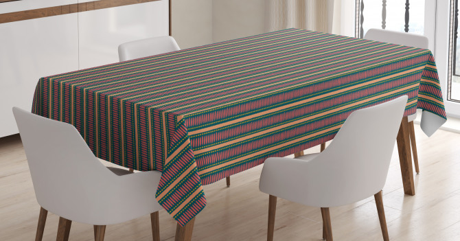 Brush Stroke Effect Tablecloth
