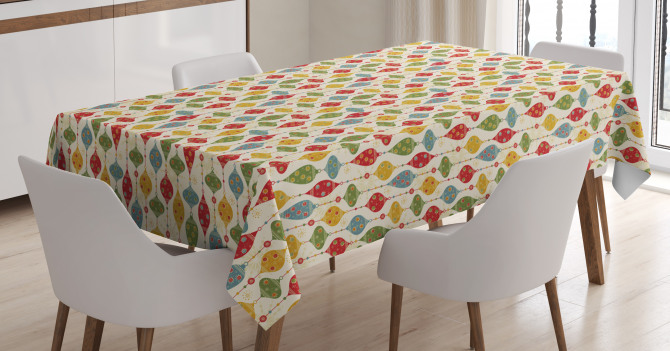 Vintage Party Print Tablecloth