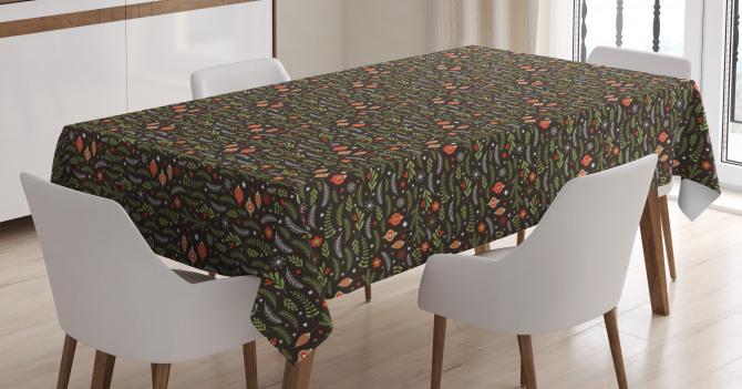 Mistletoe Pine Branch Tablecloth