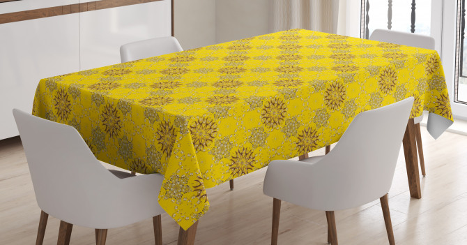 Swirly Flowers Tablecloth