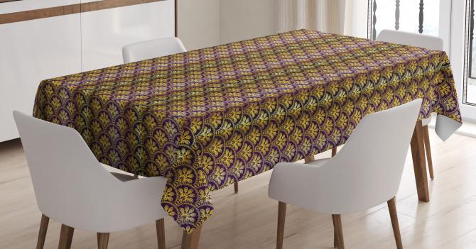 Peacock Motif Tablecloth