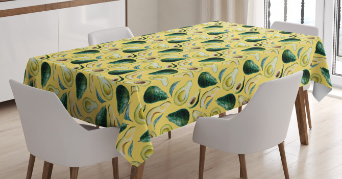 Watercolor Summer Food Tablecloth