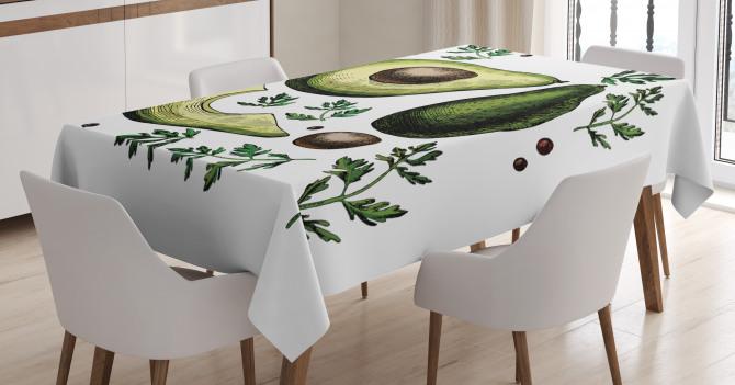 Tropical Fruit Elements Tablecloth