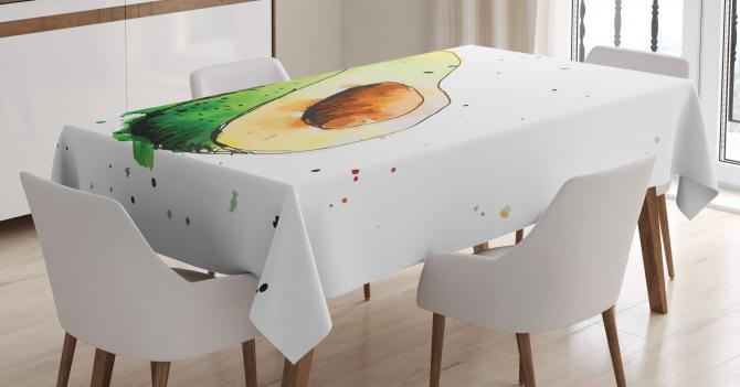 Simplistic Doodle Art Tablecloth