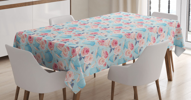 Teapots Roses Tablecloth