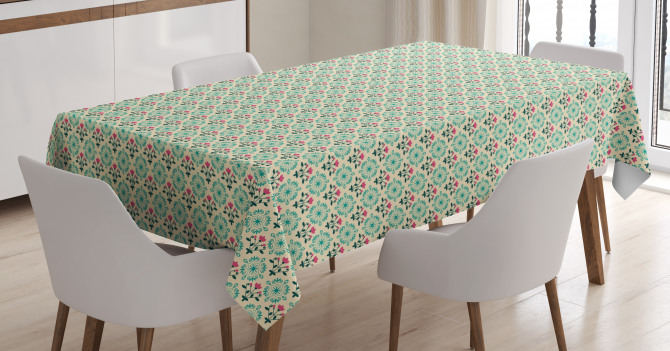 Oriental Culture Flowers Tablecloth