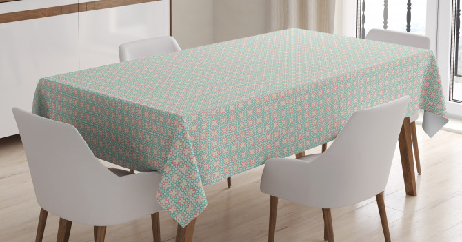 Chevron Zigzags Motif Tablecloth