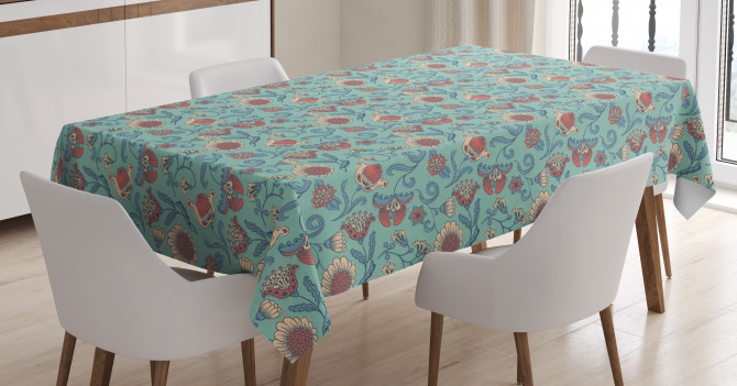 Woodland Floral Design Tablecloth