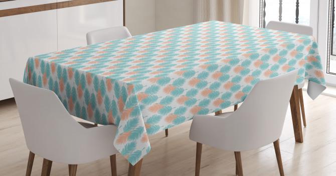 Exotic Leaves Hawaiian Tablecloth