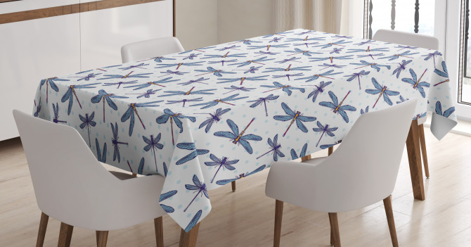 Hand Drawn Spring Bug Tablecloth