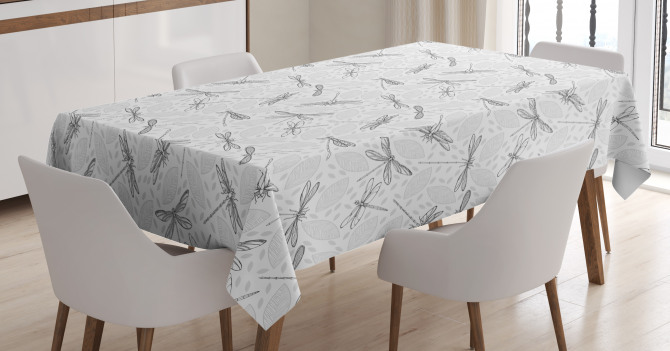 Foliage Leaves Spring Tablecloth