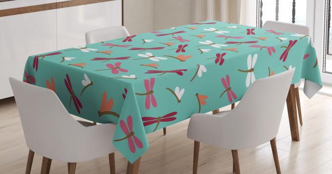 Doodle Cartoon Animal Tablecloth