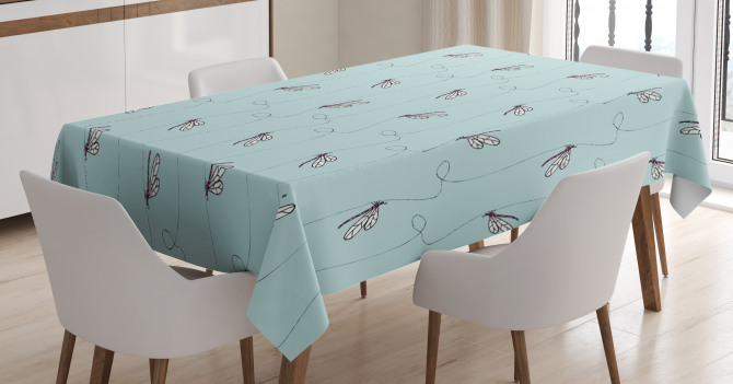 Hand Drawn Lines Tablecloth