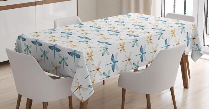 Aquarelle Bug Motif Tablecloth