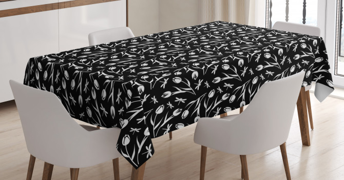 Dragonfly Tulip Tablecloth