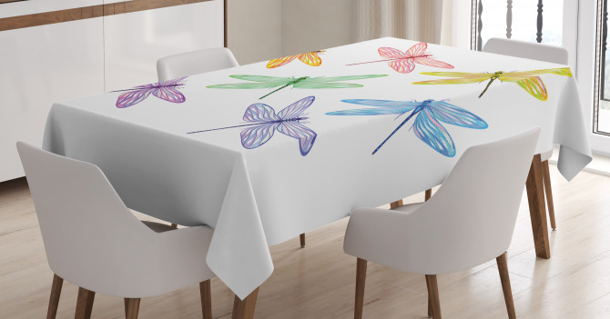 Fantasy Bugs Pattern Tablecloth