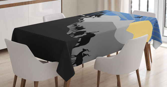 Pair of Creatures Ark Tablecloth