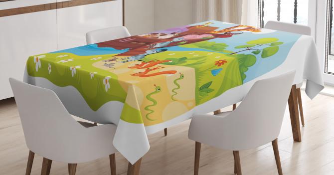 Animals Boarding Ark Tablecloth