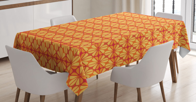 Floral Modern Mosaic Tablecloth