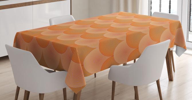 Optic Circles Graphic Tablecloth
