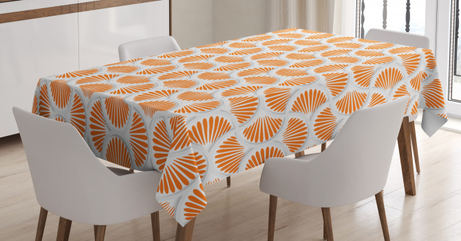 3D Style Grid Tablecloth