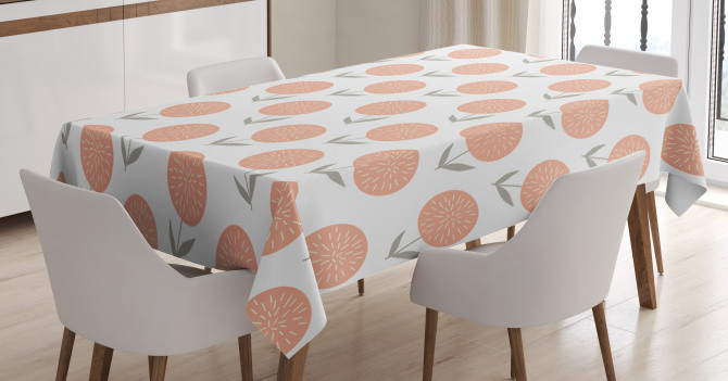 Pastel Floral Spring Tablecloth