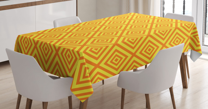 Rhombus Grid Tablecloth