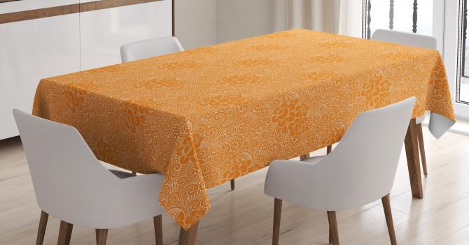 Rococo Floral Foliage Tablecloth